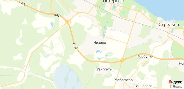 Низино на карте