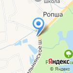 Ропша на карте Санкт-Петербурга