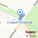 Старый Петергоф на карте Санкт-Петербурга