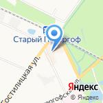Магазин ковров и тканей для дома на карте Санкт-Петербурга