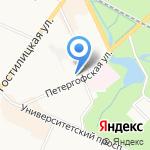 Жилищное агентство Петродворцового района Санкт-Петербурга на карте Санкт-Петербурга