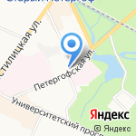 Школяръ на карте Санкт-Петербурга