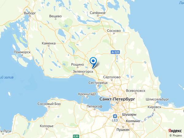 СНТ Преображенское на карте
