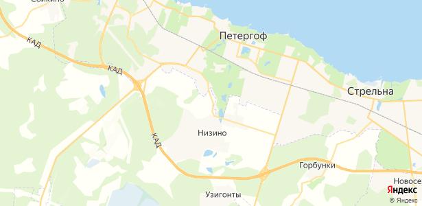Сашино на карте
