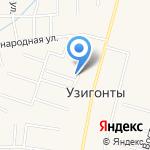 Панорама Узигонт на карте Санкт-Петербурга