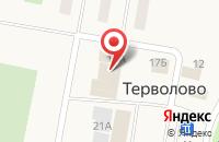 Схема проезда до компании Терволовская сельская библиотека в Терволово