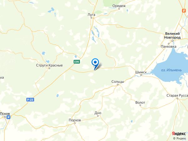 деревня Городище на карте