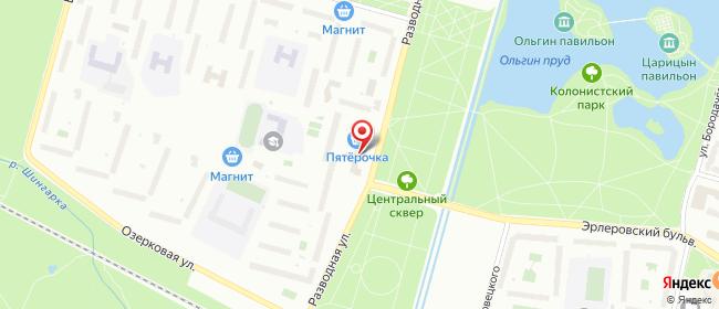 Карта расположения пункта доставки Пункт выдачи в городе Петергоф