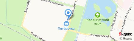 Милана на карте Санкт-Петербурга