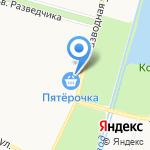Магазин по продаже свежих овощей и фруктов на карте Санкт-Петербурга