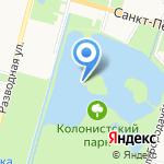 Ольгин и Царицын павильоны на карте Санкт-Петербурга