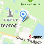 Администрация Петродворцового района на карте Санкт-Петербурга