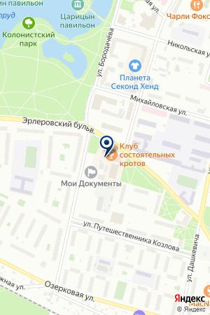 ПЕТЕРГОФСКИЕ БАНИ на карте Петергофа