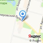 Кот-Комод на карте Санкт-Петербурга