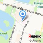 Центр здоровья на карте Санкт-Петербурга