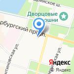 Управление Федеральной службы государственной регистрации на карте Санкт-Петербурга