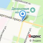 Центр социальной помощи семье и детям Петродворцового района Санкт-Петербурга на карте Санкт-Петербурга