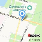Межрайонный отдел вневедомственной охраны по Петродворцовому району на карте Санкт-Петербурга