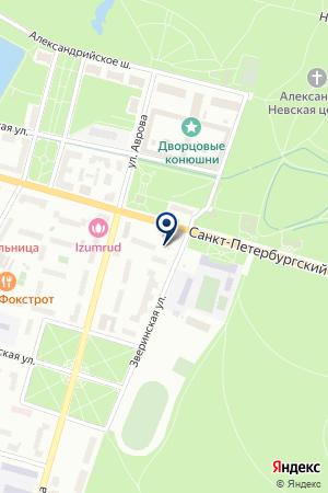 ПУНКТ ОБМЕНА ВАЛЮТЫ на карте Петергофа
