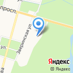 Орел на карте Санкт-Петербурга