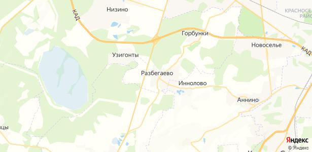 Разбегаево на карте