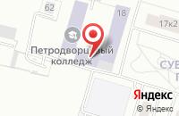 Схема проезда до компании Эркер в Петродворце