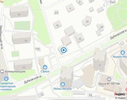 Товарищество собственников жилья «Дубки» на карте Сестрорецка