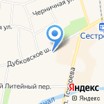 Сестрорецк на карте Санкт-Петербурга