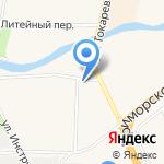 Фламинго на карте Санкт-Петербурга