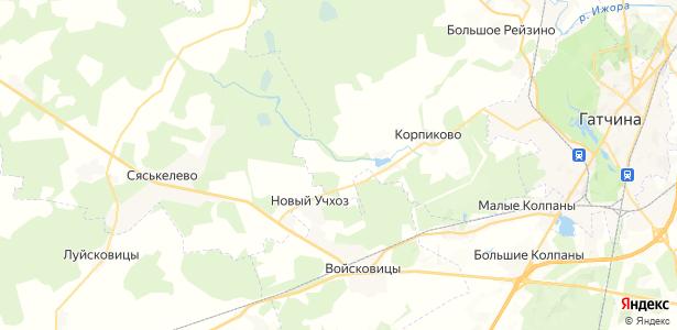 Пеньково на карте