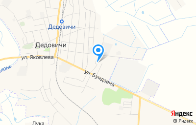 Местоположение на карте пункта техосмотра по адресу Псковская обл, рп Дедовичи, ул Бундзена, д 39
