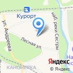 Детские Дюны на карте Санкт-Петербурга