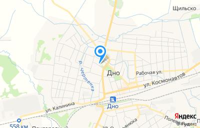 Местоположение на карте пункта техосмотра по адресу Псковская обл, г Дно, ул К.Маркса, д 13, пом 2