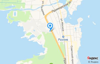 Местоположение на карте пункта техосмотра по адресу г Санкт-Петербург, г Сестрорецк, ш Приморское, д 260Л