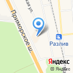 Пандора на карте Санкт-Петербурга
