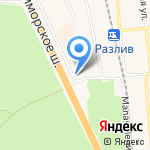 Спарт на карте Санкт-Петербурга