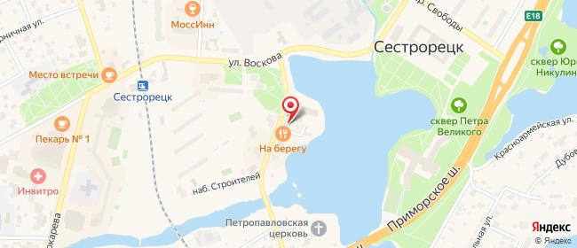 Карта расположения пункта доставки На Мосина  8А в городе Сестрорецк