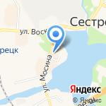Универмаг одежды на карте Санкт-Петербурга