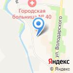 На реке Сестре на карте Санкт-Петербурга