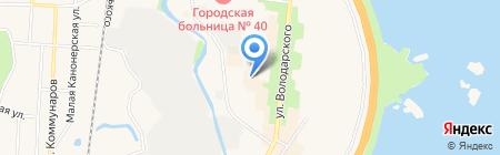 Скиф на карте Санкт-Петербурга