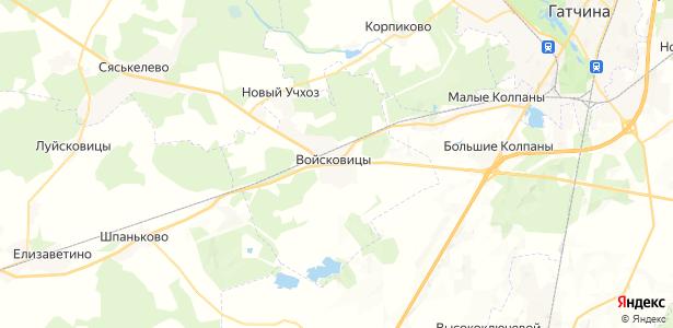 Войсковицы на карте