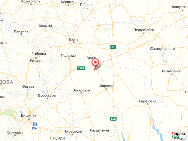 село Бондари на карте