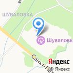 Шуваловка на карте Санкт-Петербурга
