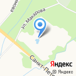 Почта Деда Мороза на карте Санкт-Петербурга