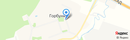 Белый лотос на карте Горбунков
