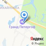 Гранд Петергоф на карте Санкт-Петербурга