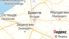 Отели города Брюгге на карте