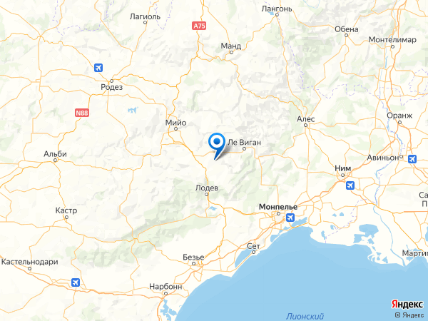 Кампестри-э-Люк на карте