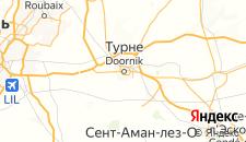 Отели города Турне на карте