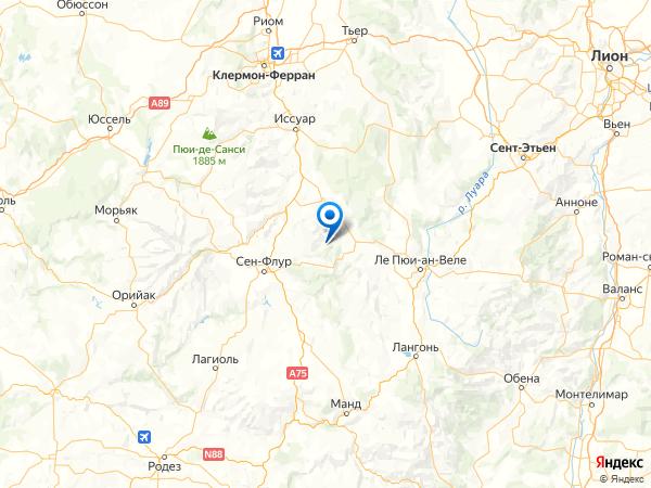 Сен-Сирг на карте